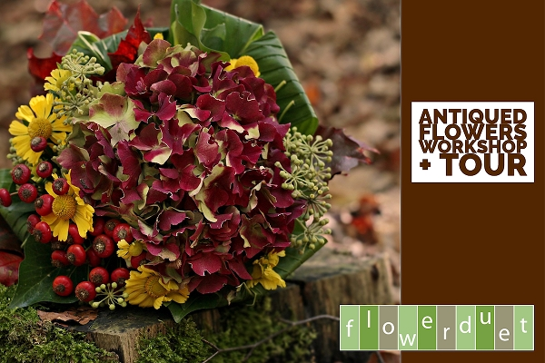 September 19, 2020 - Antiqued Flowers Workshop + TOUR