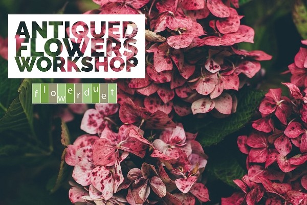 September 19, 2020 - Antiqued Flowers Workshop