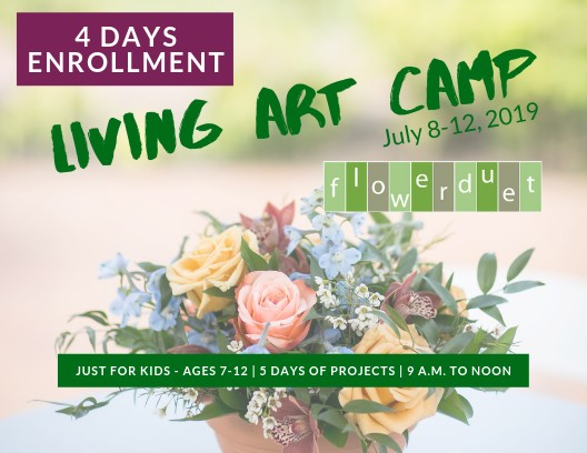 Kids Living Art Camp - July 8-12, 2019 - 4 DAYS ONLY ENROLLMENT