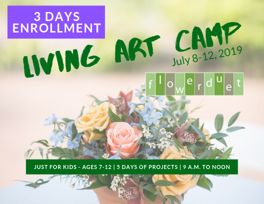 Kids Living Art Camp - July 8-12, 2019 - 3 DAYS ONLY ENROLLMENT