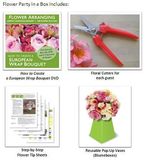 Flower Party In-A-Box - Hostess Set