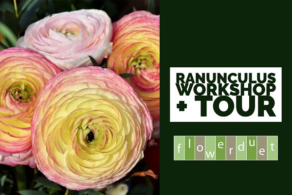 March 21, 2020 - Waving Ranunculus Workshop & TOUR Combo